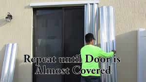 impact resistant sliding glass doors guardian shutters sliding glass door installation youtube