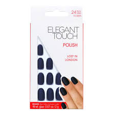 elegant touch false oval nails flexible lost in london