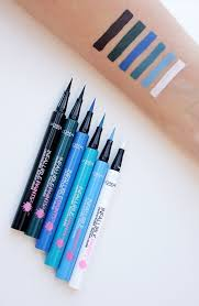 swatches of the new infallible paints colored liquid eyeliner