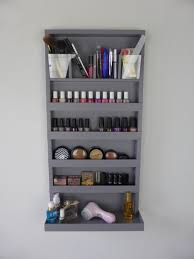 μake up organizer nail polish rack bathroom storage