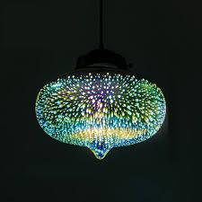 Colored Glass Pendant Lights Decorative 3d Glass Shade Colored Glass Pendant Light
