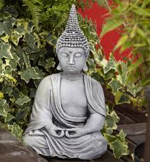 borderstone pearl hat buddha garden ornament gardensite co uk