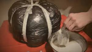 diy paper mache pumpkin halloween how to youtube