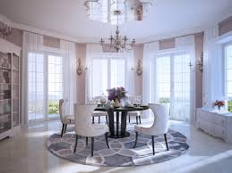 modern round dining room table round dining table interior design ideas
