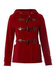 weekend by maxmara vera short duffle coat in red lyst