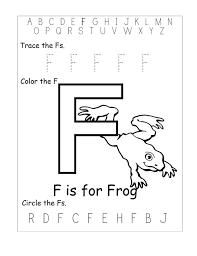 free letter f worksheets letter idea 2018
