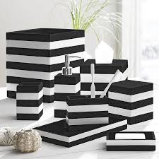 Brown And White Bathroom Accessories Black White Bathroom Accessories Sets Home Interior Design
