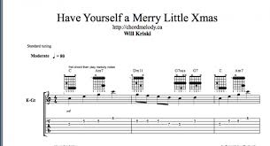 chord melody have yourself a merry little christmas will kriski