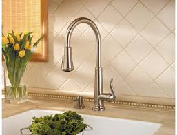 kitchen faucets brushed nickel pfister gt529 ypk ashfield single handle pull kitchen faucet