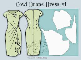 Draped Skirt Tutorial Well Suited Pattern Puzzle Cowl Draped Dress