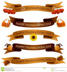 thanksgiving day ribbons or banners set stock vector image 45006334