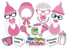 baby shower photobooth party props set 26 piece