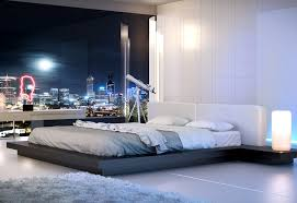 Love The Lamps And Telescope The Bed Frame Keeps The Mattress In - Elegant non toxic bedroom furniture residence