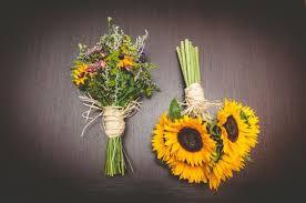 sunflower wedding bouquet sunflower bridal bouquet and wildflower bridesmaid bouquet
