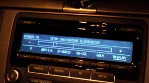 Radio Black Background Rcd 310 Background Illumination Youtube