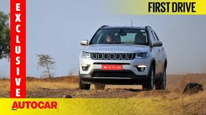 jeep compass exclusive first drive autocar india youtube