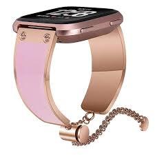 rose gold stainless steel bracelet images For fitbit versa bands women men v moro luxury rose jpg