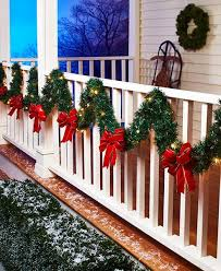 102 lit porch garland bows accent banister railing 6 hr