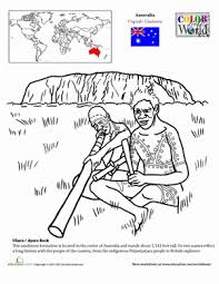 color the world ayers rock worksheet education com