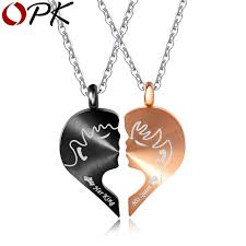 s day present opk 2018 new arrival stainless steel magnet pendant necklace 3