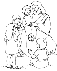coloring page color page of jesus children coloring color page