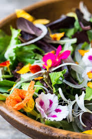 edible flower garnish salad with edible flowers the view from great island