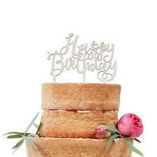 morrisons wooden boho happy birthday cake topper