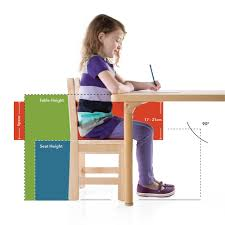 learning desk for table and chair sizing chart university furniture collection