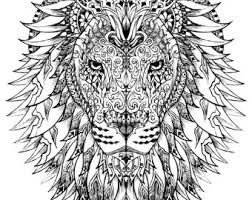 lion coloring etsy