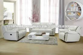 Reina White  Pc Leather Living Room Living Room Sets White - White leather living room set