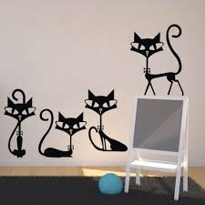 Decoration Cat Wall Decals Home by Online Buy Wholesale Vin Window Sticker From China Vin Window