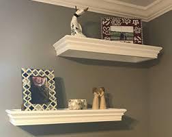 Floating Wooden Shelves by Custom Shelves Etsy