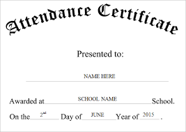 simple black and white certificate of attendance template for