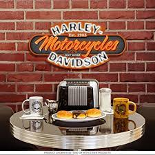 harley davidson lighted signs amazon com harley davidson motorcycles neon bar sign home kitchen