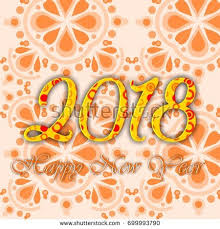 best new year cards best decorative 2018 happy new year stock illustration 699993790