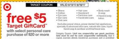 target black friday shaver coupon 5 20 target personal care gift card deal free mitchum