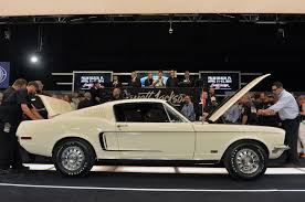 1968 mustang engine for sale barrett jackson 2014 1968 ford mustang 428 cj fastback nets