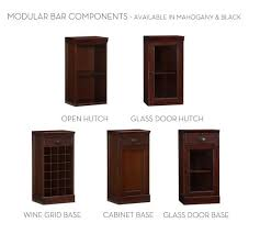 Glass Door Bar Cabinet Build Your Own Modular Bar Cabinets Pottery Barn