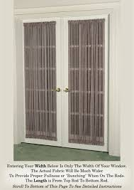 french door curtain multi color sheers door curtains