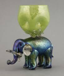 elephant vase ceramic a rare loetz iridescent elephant vase the elephant with clear