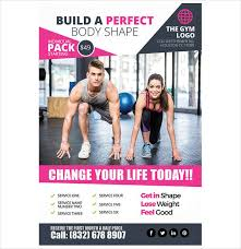 fitness flyer templates free u0026 premium templates