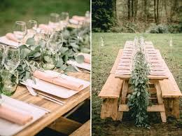 table decor inspiration for an outdoor bohemian wedding weddbook