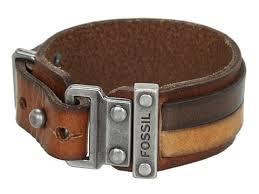 fossil leather bracelet images Fossil casual vintage leather bracelet brown free jpg