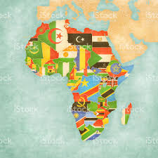 Map Of Africa Countries by Map Of Africa Flags Of All Countries Stock Vector Art 613318660