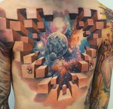 3d Tattoo Ideas For Men 50 Best And Awesome Chest Tattoos For Men
