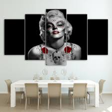 aliexpress com buy hd printed marilyn monroe tattoo red rose