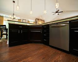 kitchen modern rustic hickory kitchen black cabinets convection