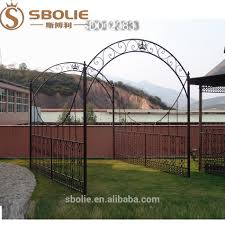 wrought iron garden arch with gate wrought iron garden arch with