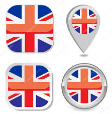 Map Point Flag Icon Button Sticker Map Point Marker Of Great Britain U2014 Stock