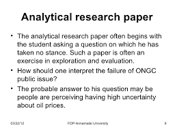 Analytical research paper        SlideShare